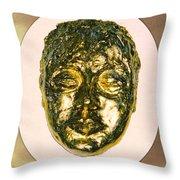 Golden Face From Degas Dancer Throw Pillow