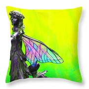 Golden Fairy Throw Pillow