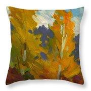 Golden Fall Throw Pillow