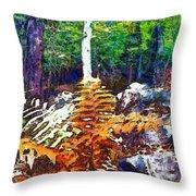 Golden Ferns Throw Pillow