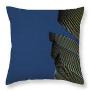 Golden Finch Feather Throw Pillow