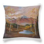 Golden Fire Of Autumn Throw Pillow