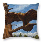 Golden Flex Throw Pillow by Crista Forest