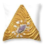 Golden Flow Creator Throw Pillow