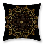 Golden Flower Of The Night Throw Pillow