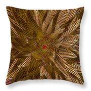 Golden Flower - Ruby Heart Throw Pillow