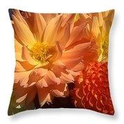 Golden Flowers Upclose  Throw Pillow