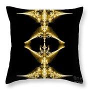 Golden Fractal Throw Pillow