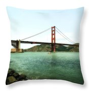 Golden Gate Bridge 2.0 Throw Pillow by Michelle Calkins