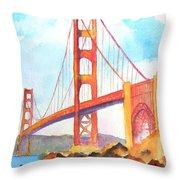 Golden Gate Bridge 3 Throw Pillow
