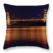 Golden Gate Bridge After Dark Throw Pillow