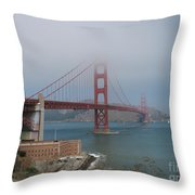 Golden Gate Bridge And Fort Point Throw Pillow