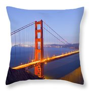 Golden Gate Bridge At Dusk Throw Pillow
