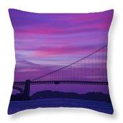 Golden Gate Bridge At Twilight Throw Pillow