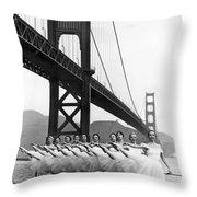 Golden Gate Bridge Ballet Throw Pillow