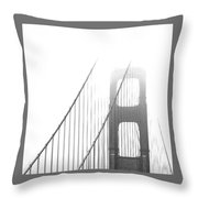 Golden Gate Bridge Throw Pillow by Ben and Raisa Gertsberg