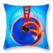 Golden Gate Bridge Circagraph Throw Pillow