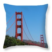 Golden Gate Bridge In Spring Throw Pillow