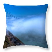 Golden Gate Bridge In The Fog Throw Pillow