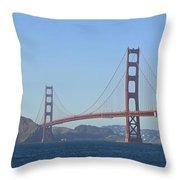 Golden Gate Bridge Panoramic Throw Pillow