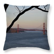 Golden Gate Bridge - San Francisco California Throw Pillow