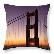Golden Gate Bridge Sunrise From Marin Throw Pillow