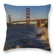 Golden Gate Bridge Sunset Study 2 Throw Pillow