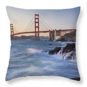 Golden Gate Bridge Sunset Study 5 Throw Pillow