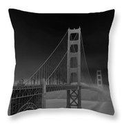 Golden Gate Bridge To Sausalito Throw Pillow