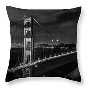 Golden Gate Evening- Mono Throw Pillow