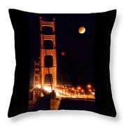 Golden Gate Night Throw Pillow