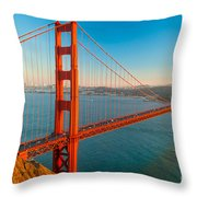 Golden Gate - San Francisco Throw Pillow