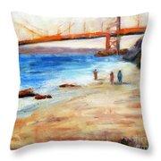 Golden Gate Stroll Throw Pillow