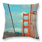 Golden Gate Walkway Throw Pillow