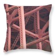Golden Gate's Skeleton Throw Pillow