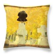 Golden Gothic Throw Pillow