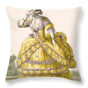 Golden Gown, Engraved By Dupin, Plate Throw Pillow