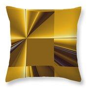 Golden Graphic Throw Pillow