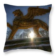 Golden Griffin Throw Pillow