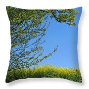 Golden Growing Season Throw Pillow