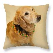 Golden Halloween Throw Pillow