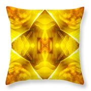 Golden Harmony  Throw Pillow