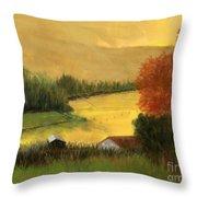 Golden Haze Throw Pillow