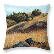 Golden Hills Throw Pillow
