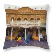 Golden Horseshoe Frontierland Disneyland Photo Art 02 Throw Pillow