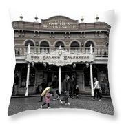 Golden Horseshoe Frontierland Disneyland Sc Throw Pillow