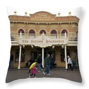 Golden Horseshoe Frontierland Disneyland Throw Pillow