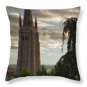 Golden Hour Church Glow Throw Pillow
