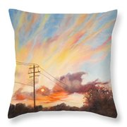 Golden Hour Throw Pillow