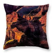 Golden Hour Mather Point Grand Canyon National Park Throw Pillow
